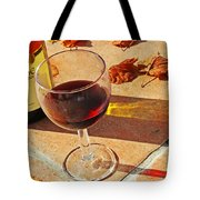 An Autumn Glass Of Red Tote Bag by Nomad Art And  Design