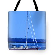Anchored In The Bay Tote Bag by Laurie Pike