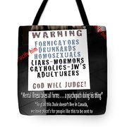 And They Cried Crucify Him - The Looking Glass 1 Tote Bag by Reggie Duffie