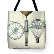 Andre Jacques Garnerins Parachute 1797 Tote Bag by Science Source