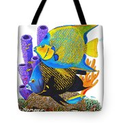Angel Fish Tote Bag by Carey Chen