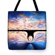 Angel In The Sky Tote Bag by Alec Drake