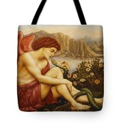 Angel With Serpent Tote Bag by Evelyn De Morgan