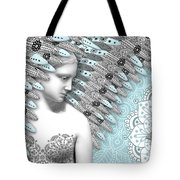 Angelica Hiberna - Angel of Winter Tote Bag by Christopher Beikmann