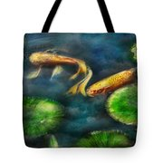 Animal - Fish - The shy fish  Tote Bag by Mike Savad