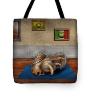 Animal - Squirrel - And stretch Two Three Four Tote Bag by Mike Savad