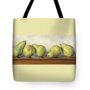 Anjou Pears Tote Bag by Lucie Bilodeau