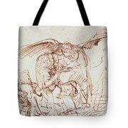 Annunciation  Tote Bag by Rembrandt Harmenszoon van Rijn