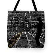 Another Bike On The Wall Tote Bag by Barbara St Jean
