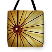 Antique Farm Wheel Tote Bag by Carolyn Marshall