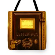 Antique Letter Box At The Brown Palace Hotel Tote Bag by John Malone
