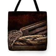 Antique Pulley Tote Bag by Tom Mc Nemar