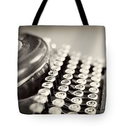 Antique Typewriter Tote Bag by Ivy Ho