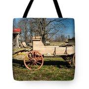 Antique Wagon And Mountain Cabin 1 Tote Bag by Douglas Barnett