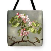 Apple Blossoms And A Hummingbird Tote Bag by Martin Johnson Heade