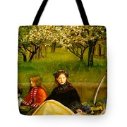 Apple Blossoms Tote Bag by John Everette Millais