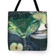 Apple Martini Tote Bag by Debbie DeWitt