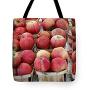 Apples In Small Baskets Tote Bag by Paul Velgos
