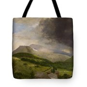 Approaching Storm  White Mountains Tote Bag by Alvan Fisher