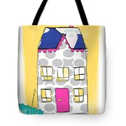 April Showers House Tote Bag by Linda Woods
