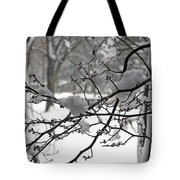 April Snow Tote Bag by Kay Novy