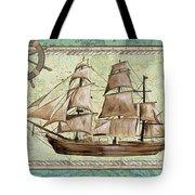 Aqua Maritime 1 Tote Bag by Debbie DeWitt