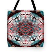 Aquatic Lace 5 Tote Bag by Shawna  Rowe