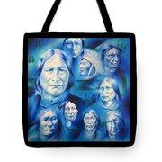 Arapaho Leaders Tote Bag by Robert Martinez