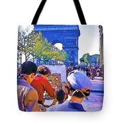 Arc De Triomphe Painter Tote Bag by Chuck Staley