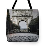 Arch Of Titus Morning Glow Tote Bag by Joan Carroll