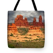 Arches National Park - A Picturesque Drama Tote Bag by Christine Till