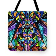 Arcturian Awakening Grid Tote Bag by Teal Eye  Print Store