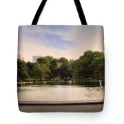Around The Central Park Pond Tote Bag by Madeline Ellis