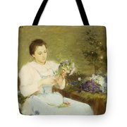 Arranging Flowers For A Spring Bouquet Tote Bag by Victor Gabriel Gilbert