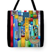 Art Deco Stained Glass 1 Tote Bag by Ellen Henneke