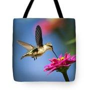Art Of Hummingbird Flight Tote Bag by Christina Rollo