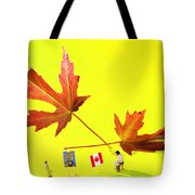 Artist De Imagination Little People Big Worlds Tote Bag by Paul Ge