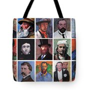 Artist Portraits Mosaic Tote Bag by Tom Roderick