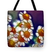 Artistic Feverfew Tote Bag by Kaye Menner