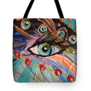 Artwork Fragment 90 Tote Bag by Elena Kotliarker