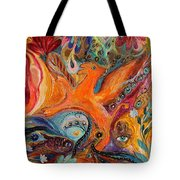 Artwork Fragment 99 Tote Bag by Elena Kotliarker