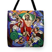 Ascending To The Father  Tote Bag by Anthony Falbo
