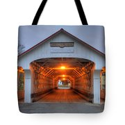 Ashuelot Covered Bridge Tote Bag by Joann Vitali
