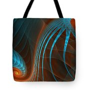 Astonished-fractal Art Tote Bag by Lourry Legarde