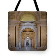 Astor Hall At The New York Public Library Tote Bag by Susan Candelario