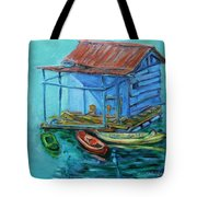 At Boat House Tote Bag by Xueling Zou