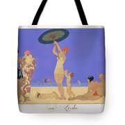 At The Lido Tote Bag by Georges Barbier
