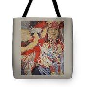 At The Powwow Tote Bag by Wanda Dansereau