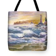 Atlantic Agitation Tote Bag by Mohamed Hirji
