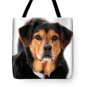 Attentive Labrador Dog Tote Bag by Christina Rollo